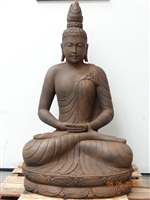 Large Carved Stone Sitting Thai Buddha Statue