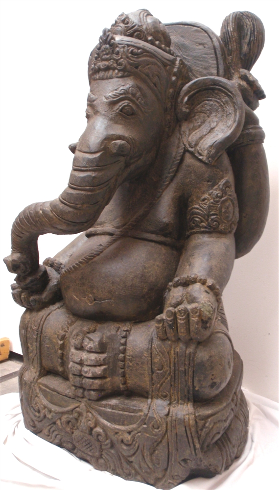 stone asian 3ft large carved stone ganesh ganesha zen garden statue asian