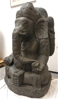 3ft Big Ganesa Ganesh Elephant God Statue CARVED STONE W/Jewels Buddhist Art