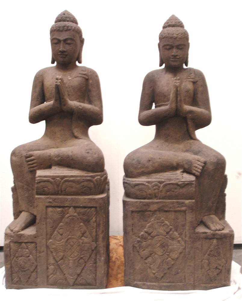 4ft tall hand carved stone ornate temple buddha statues with price 575000 buycottarizona