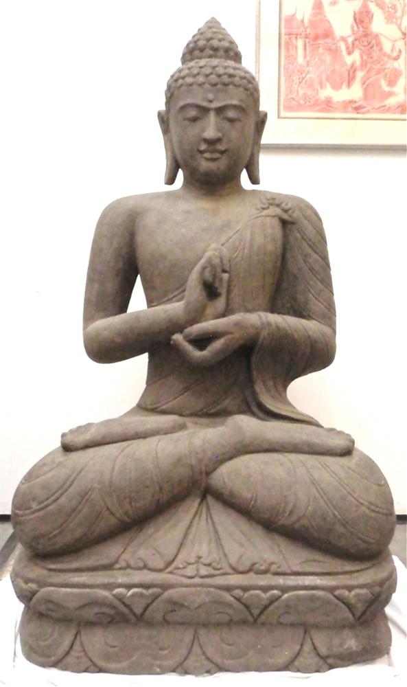 5ft Tall Large Stone Zen Garden Sitting Buddha Statue Asian Decor Sculpture