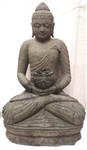 4ft HEALING MEDICINE BUDDHA STATUE LARGE CARVED STONE SEATED GARDEN BUDDHA
