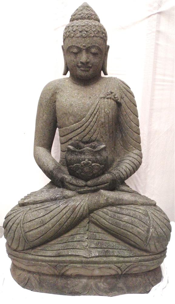 4ft Large Sitting Healing Medicine Garden Buddha Statue Hand Carved Stone