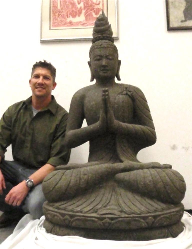 4ft seated garden buddha statue solid stone indian yoga sun price 265000 m4hsunfo