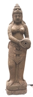 5ft Tall Carved Stone Dewi Tara STATUE Zen Garden Water Fountain