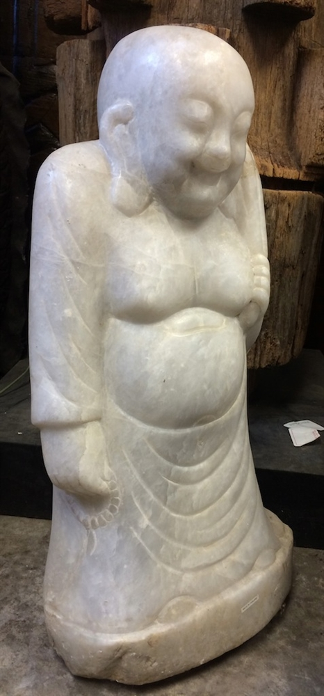 2ft Standing Hotei Ho Tai Laughing Buddha Statue Antique