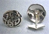 Sterling Silver Celtic Interlace Circle Cuff Links
