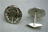 Sterling Silver Celtic Thistle Cuff Links by Zephyrus