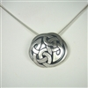 Celtic Interlace Circle Necklace, sterling silver by Zephyrus