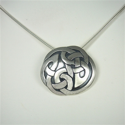 Large Interlace Circle Necklace