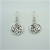 Large Celtic Interlace Circle Earrings