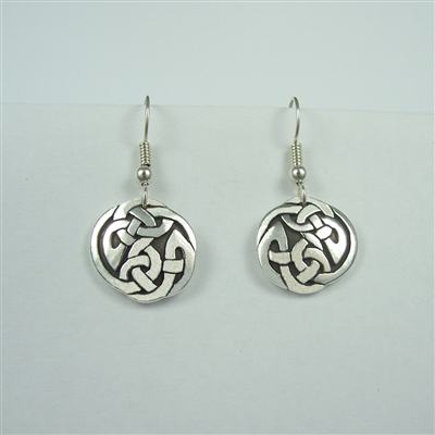 Large Celtic Interlace Circle Earrings - sterling silver - Zephyrus
