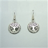 Large Celtic Oak Tree Earring - sterling silver - Zephyrus