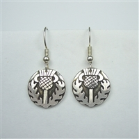 Large Celtic Thistle Earrings - sterling silver - Zephyrus