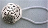 Large Celtic Hair Tie - sterling silver- Zephyrus