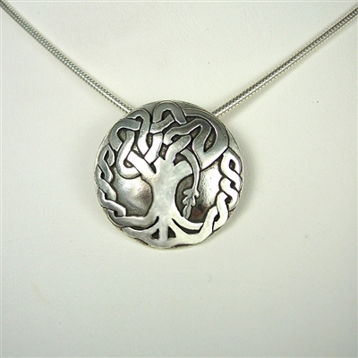 Celtic Oak Tree Necklace - sterling silver - Zephyrus
