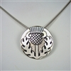 Celtic Thistle Necklace - sterling silver - Zephyrus