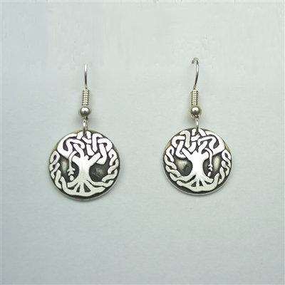 Small Celtic Oak Tree Earrings