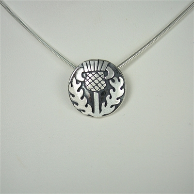 Small Celtic Thistle Necklace