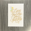 "Disney Tinker Bell ""You Sparkle"" Signature Card"