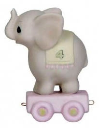 Precious Moments Circus Birthday Train - Elephant - Age 4