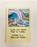 Birthday Featuring Snail-Like Traffic - YINZER Cards