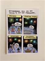 Greeting Fireworks - YINZER Cards