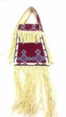 Lakota Sioux Beaded Leather Purse -Red