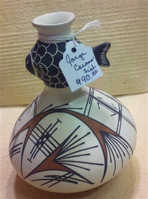 White/Black Fish Vase