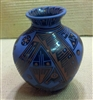 Black Etched with Blue/Terracotta