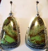 Sterling Gaspeite Earrings