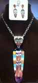 Santo Domingo Sterling Inlayed Pendant & Earring Set