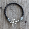 BRAIDED LEATHER WITH TOGGLE BRACELET