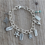 "7.5"" Heavy Cable w/ Swivel Lobster Clasp - Charm Bracelet"