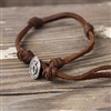 LATIGO LEATHER KNOT BRACELET WITH BUTTON