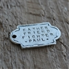 Vintage Square Personalized Tag - MYGODTAGS