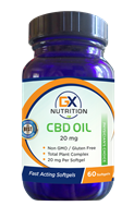 GX Nutrition 20mg CBD Softgels
