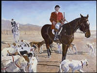 """Opening West Hills Hounds at Tejon"" Artisen Greeting Cards"