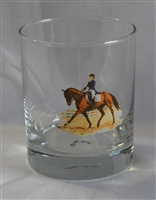 Double Old Fashion Glasses - Dressage Horse - Set of 4