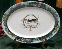 Oval Serving Platter - Foxhound & Whips