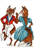 "Foxtales - ""Having A Ball"" - Giclee"
