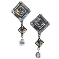 Firefly Earrings- La Dolce Vita Diagonal with Dangle-Silver