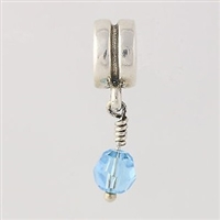 1/2 price- Chamilia Bead -March Birthstone Dangle-Retired