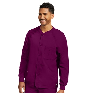 Barco 0406 - Men's Snap Front Raglan Sleeve Solid Scrub Jacket