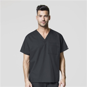 WonderWORK 100 : Unisex V-Neck Solid Scrub Top