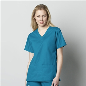 WonderWORK 101 : Women's V-Neck Solid Scrub Top