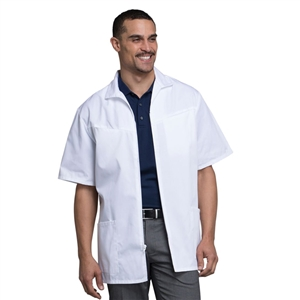 "Cherokee 1373 - Med-Man Men's Zip Front 32"" Lab Coat"