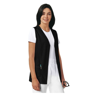 Cherokee 1602 - Women's Button Front Vest Solid Scrub Top