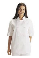 White Swan 18001 - Short Sleeve Basic Chef Jacket