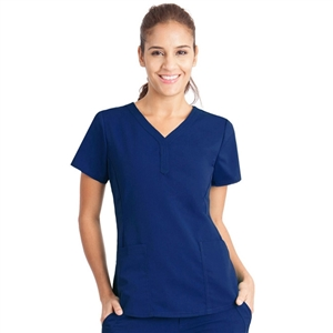 Healing Hands 2167 - Women's Jane Y-Neck Solid Scrub Top
